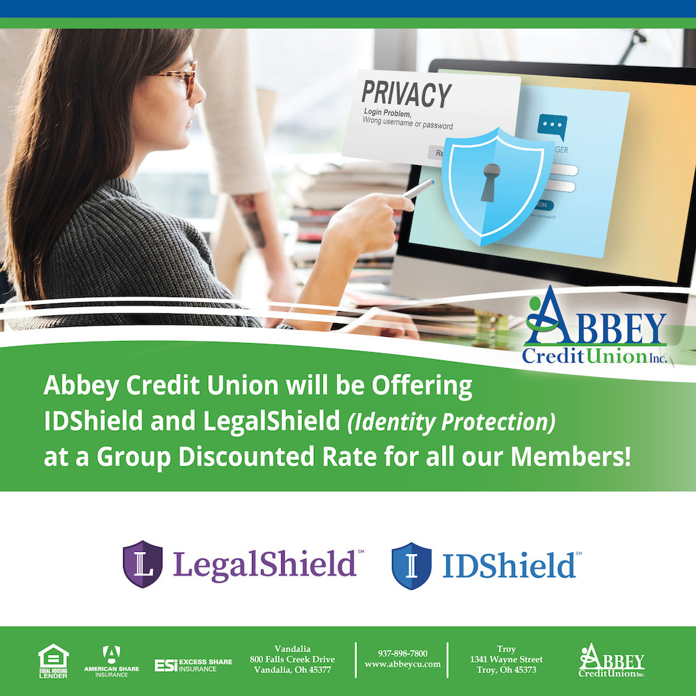 Graphic showing information about the new IDShield and LegalShield offerings