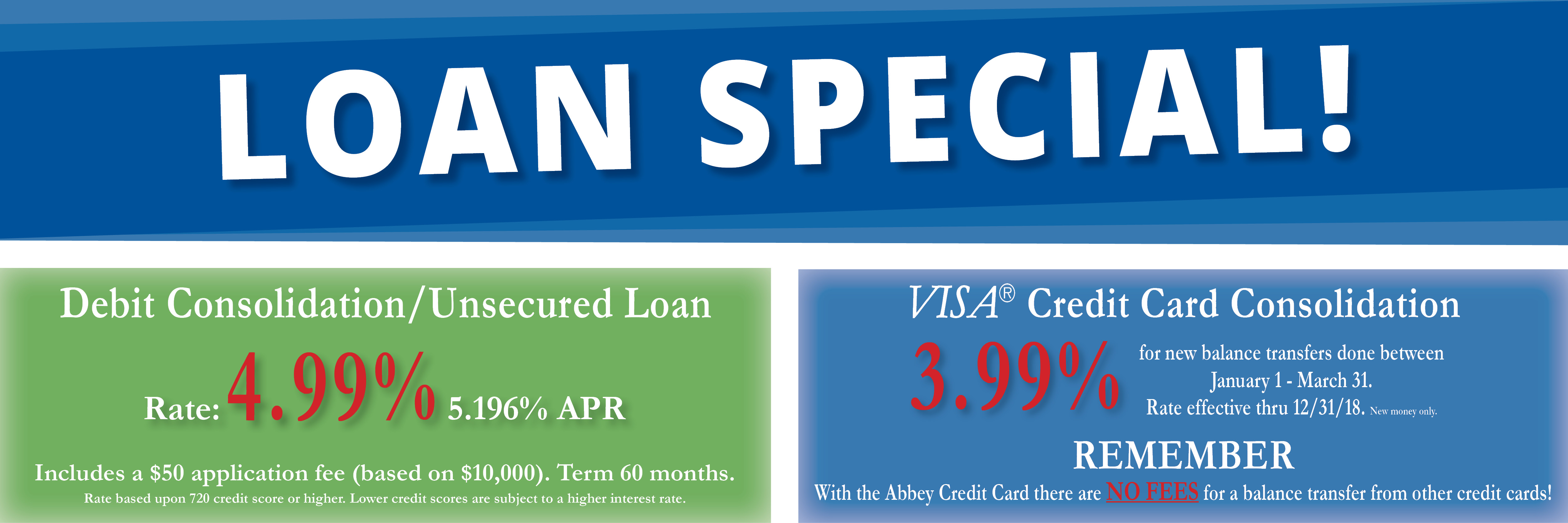 Abbey Credit Union Promotions